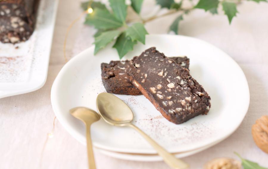 Bûche express au chocolat, Noix et marrons du Périgord